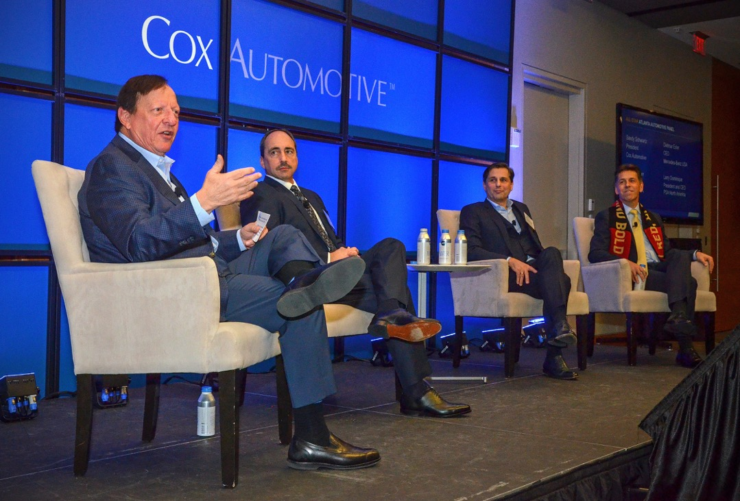 Cox Automotive President Sandy Schwartz (far left) hosted a panel at the Atlanta Economics Club