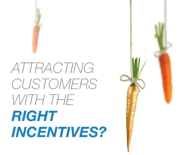 Attracting customers with the right incentives