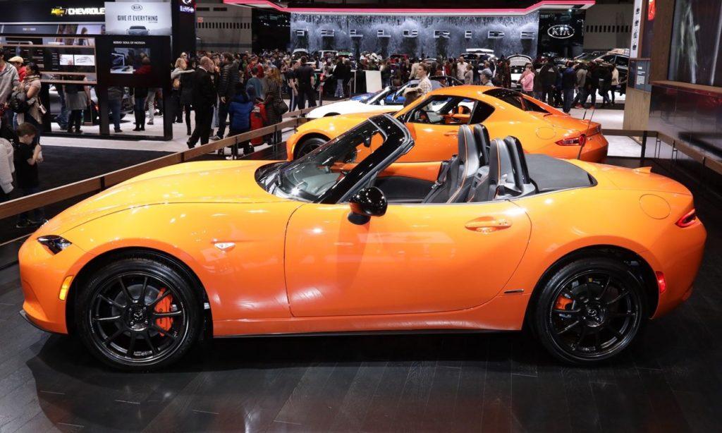 Mazda miata at show