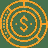 Cai icon line budget balance orange